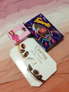A mandatory pic of my Easter goodies. I scored well, thanks Easter bunny ;)