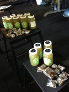 Delish green juices & bliss balls at the launch